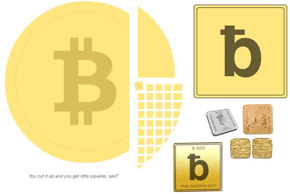 "Proposed shape for the ""bits"" symbol is a square, and to keep the gold color."
